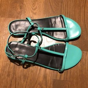 Merona strappy teal sandals. Like new. Size 9.